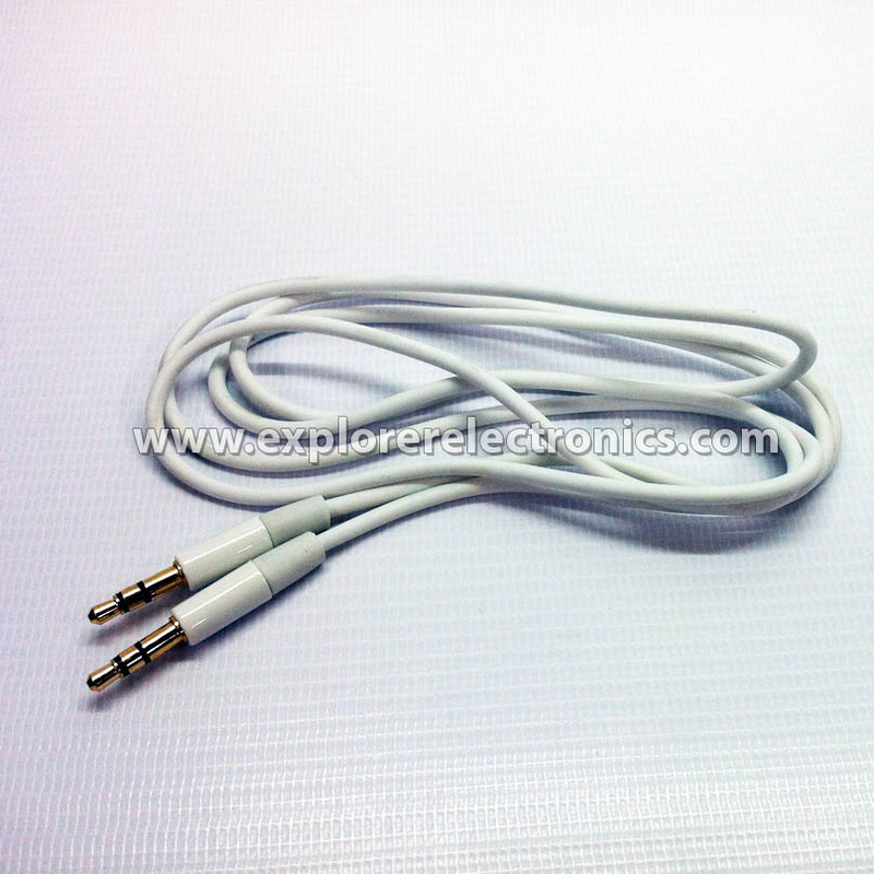 Multi-Color 3.5mm Male Plug to 3.5mm Male Plug Stereo Cable (TS-208/WHITE)
